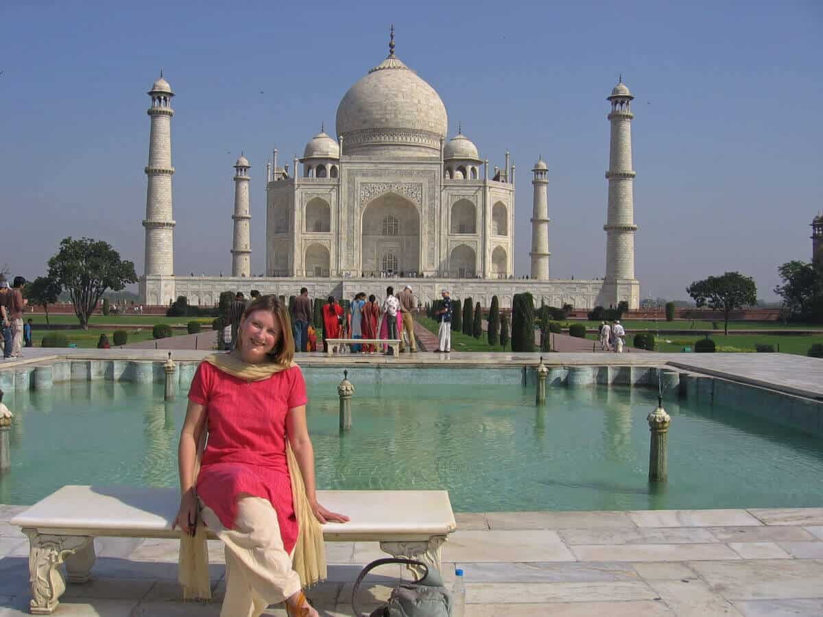 Mariellen Ward at Taj Mahal: Travel safety tips for women travellers