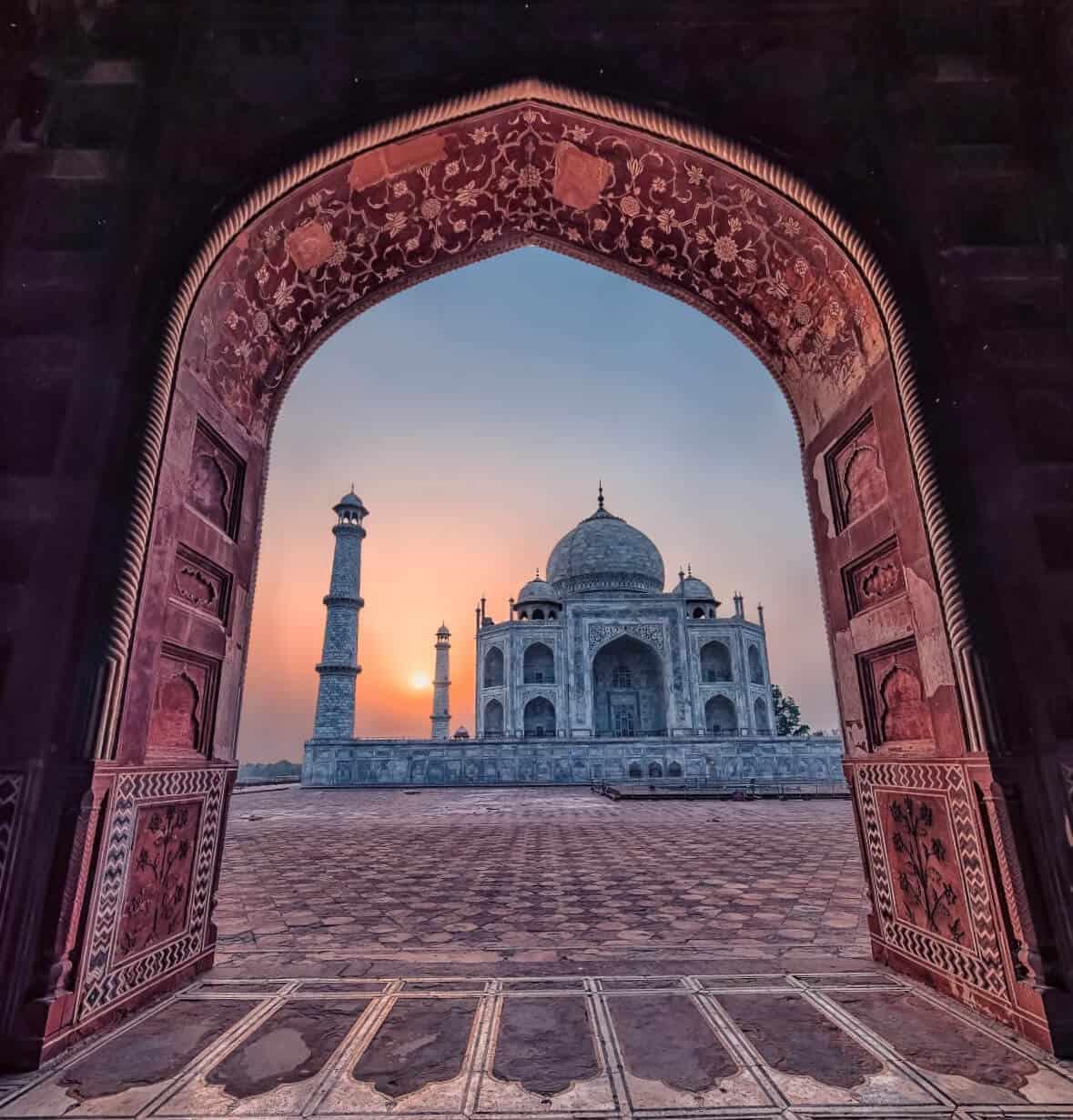 The Taj Mahal, Agra, India is an image of history