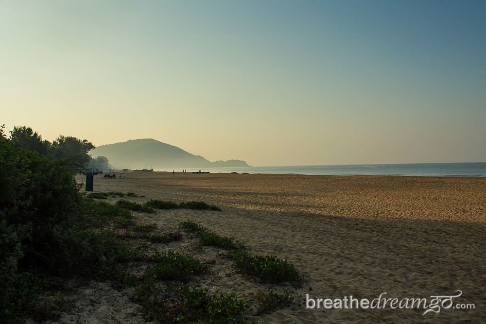 Agonda Beach in Goa at sunrise