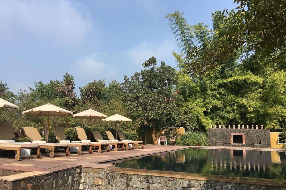 Pool at Samode Safari Lodge, Bandhavgarh National Park Tiger Reserve