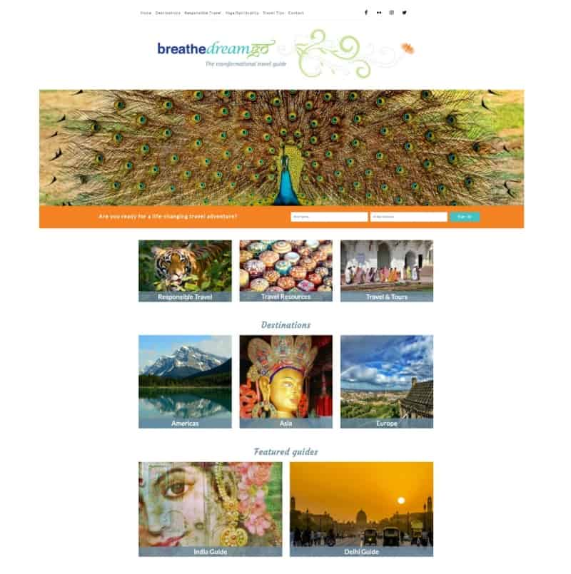Breathedreamgo India travel blog home page