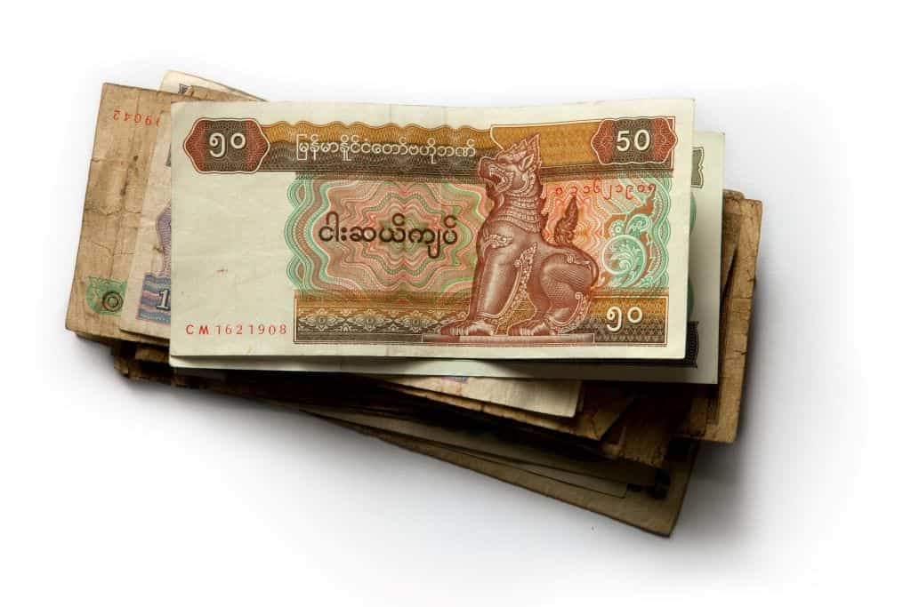 Myanmar currency notes