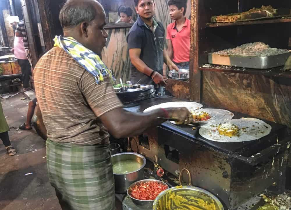 Streetfood stall in Kolkata