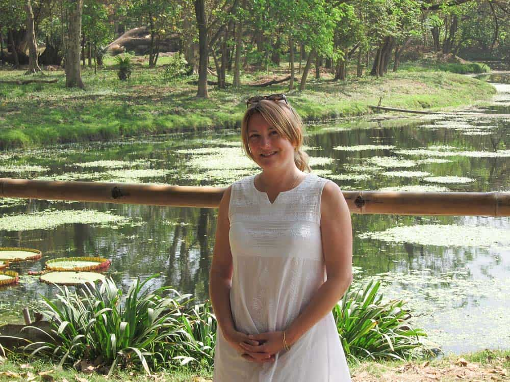 Mariellen Ward at Botanical Gardens in Kolkata