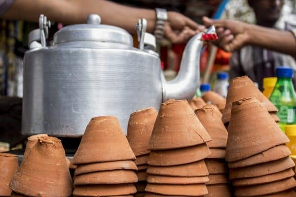 Chai pot and cups
