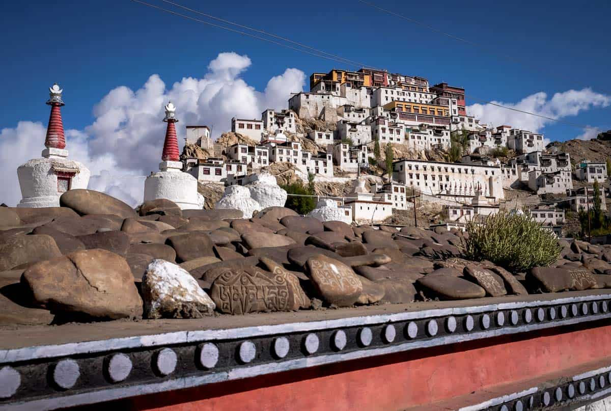 Thiksey Buddhist monastery in Ladakh