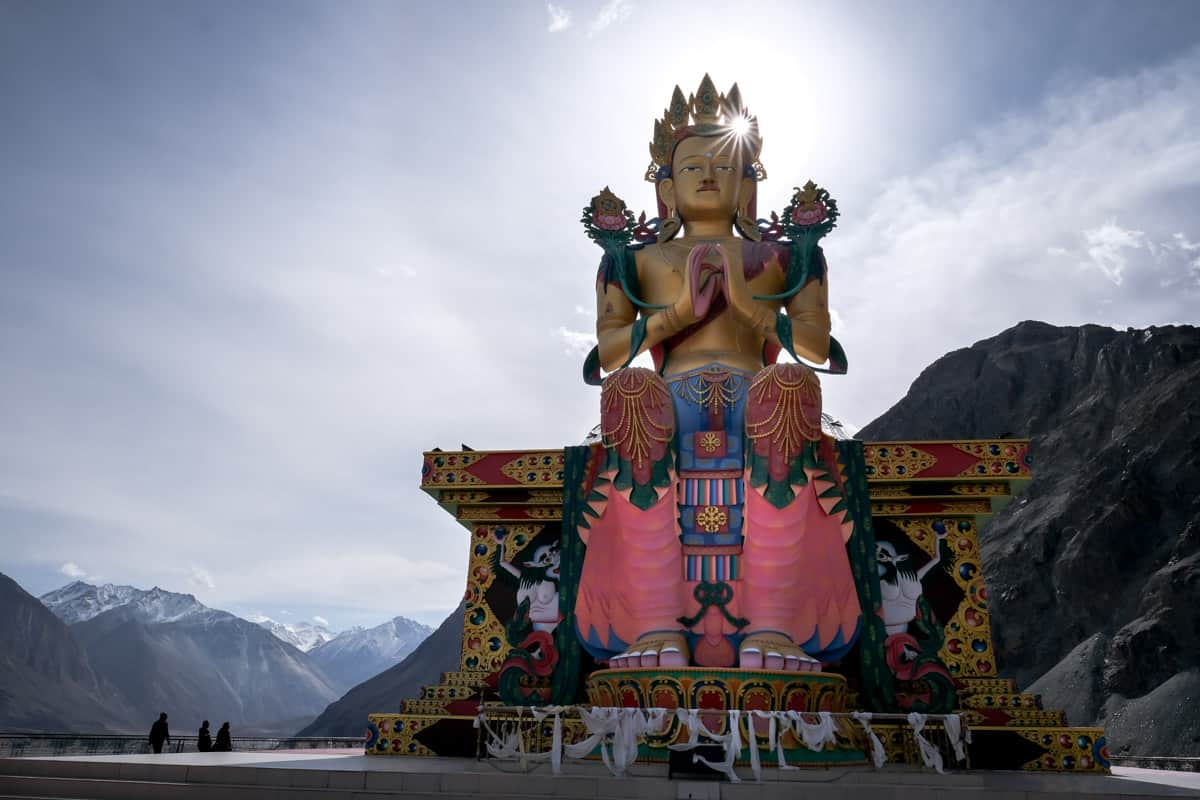 Buddhist statue in Ladakh