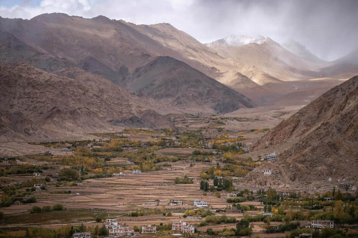 Valley and mountains in Ladakh