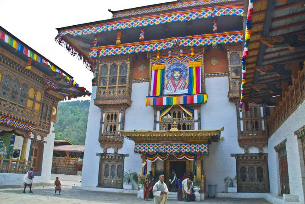 traditional building in Bhutan