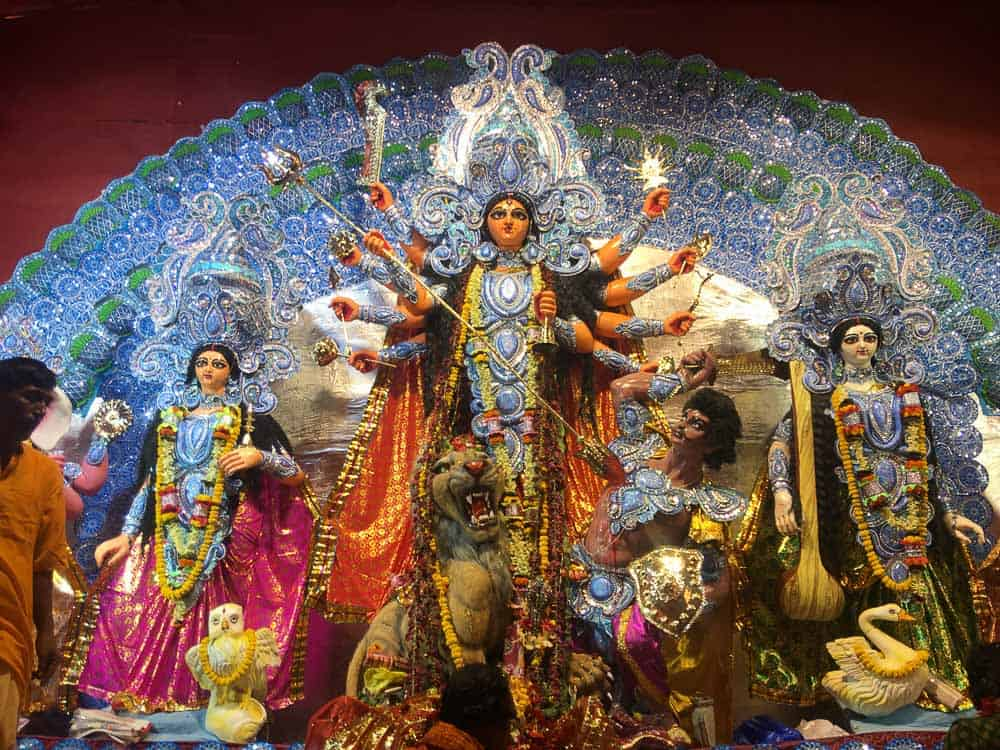 Durga idol during Durga puja