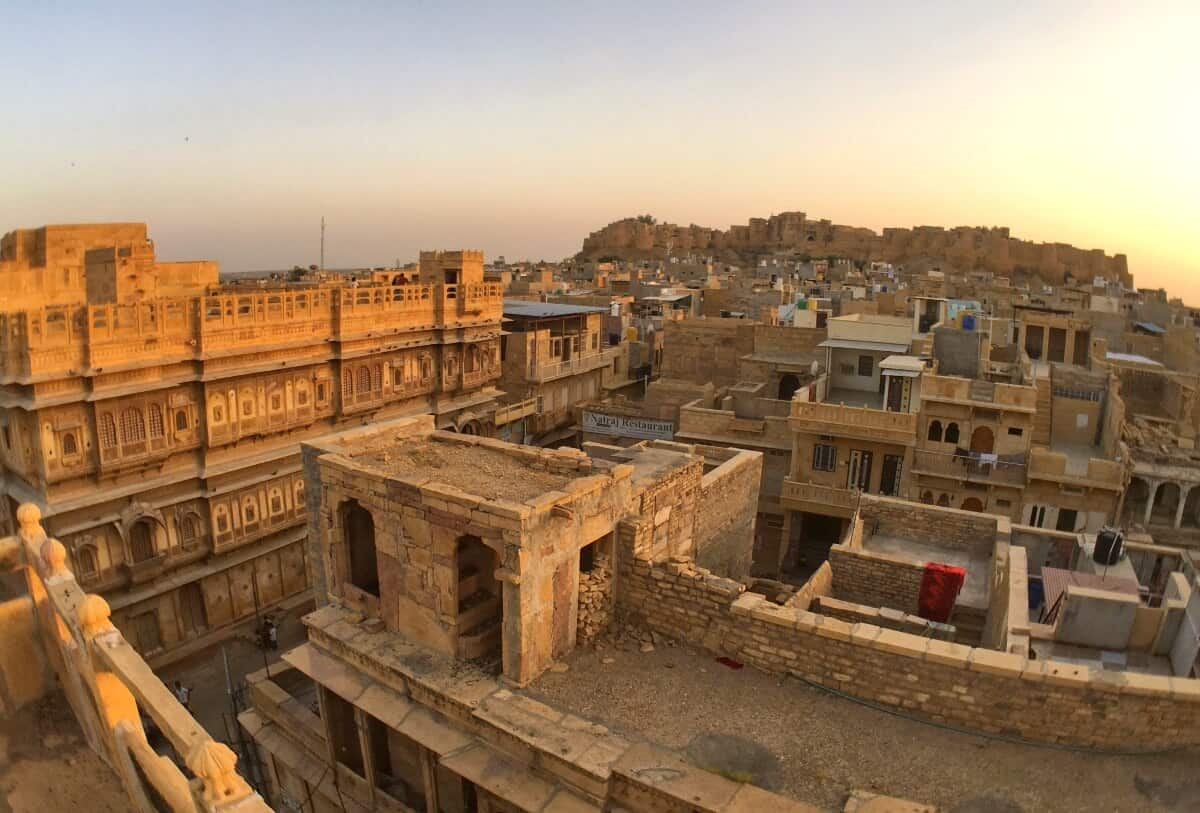sunset view of Jaisalmer