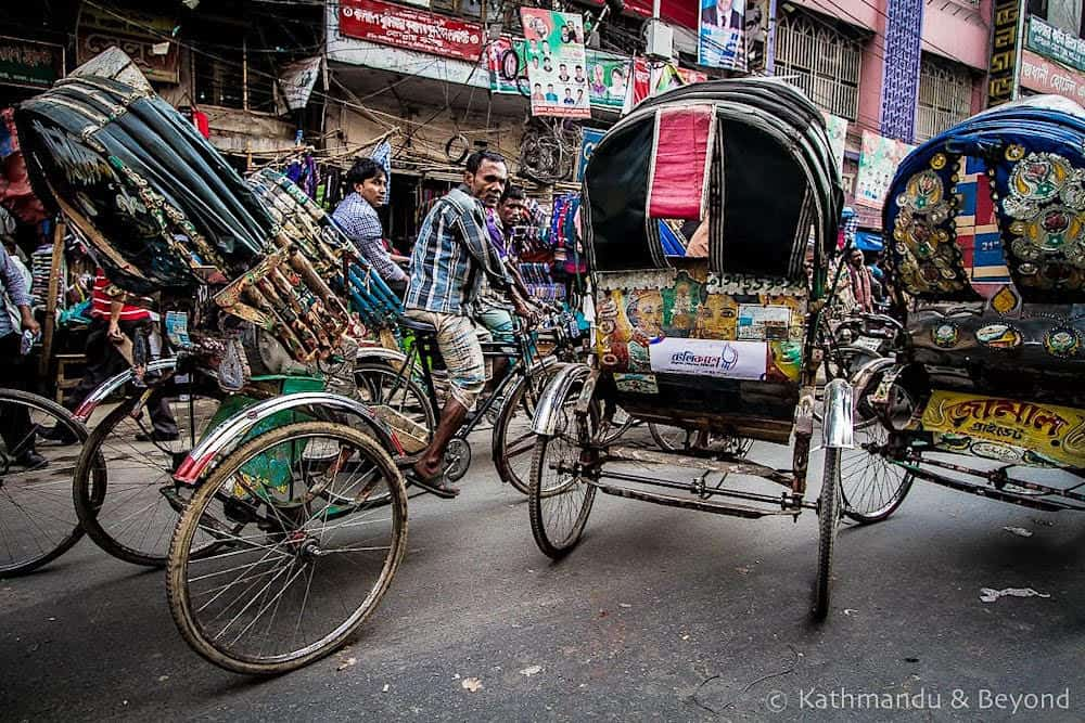 Cycle rickshaws in Old Dhaka, Bangladesh