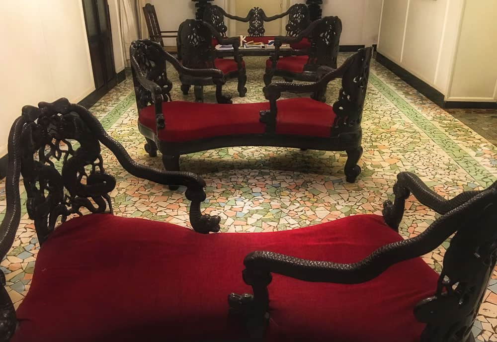 Antique furniture at Panjim Inn, Goa