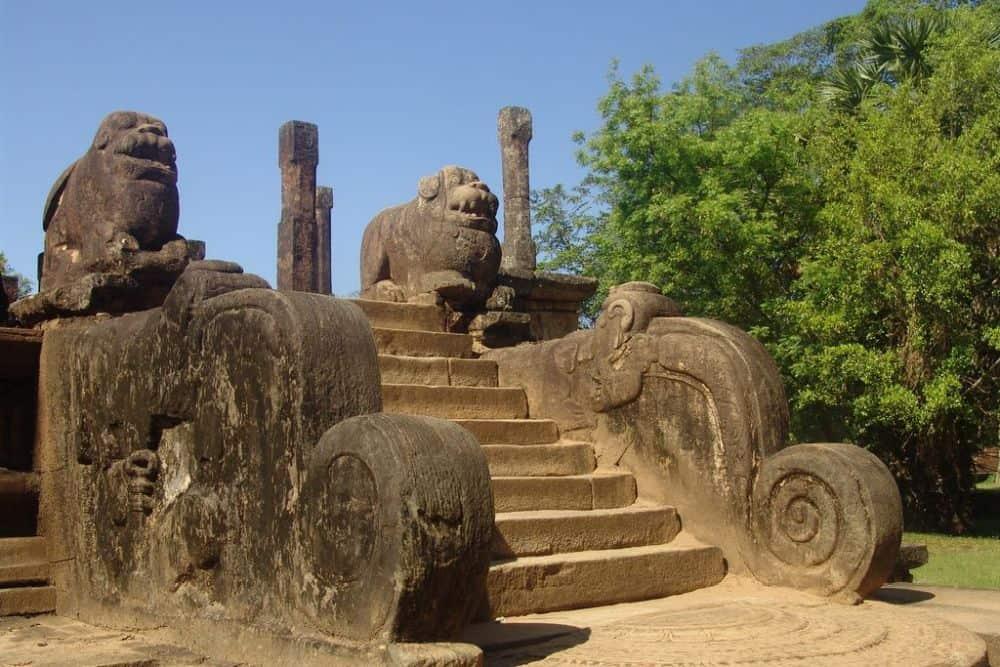 rock cut stairs at Polonnaruwa, Sri Lanka