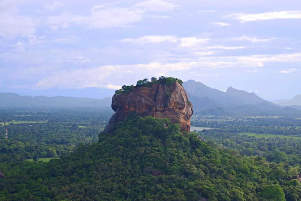 Sigiriya Rock as seen from the top of Pidurangala Rock, Sri Lanka