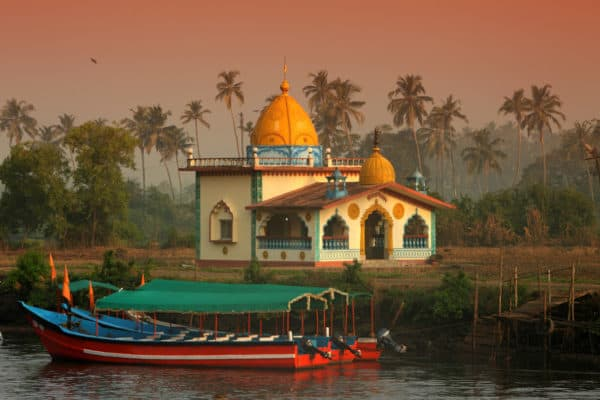 church and boats in offbeat Goa