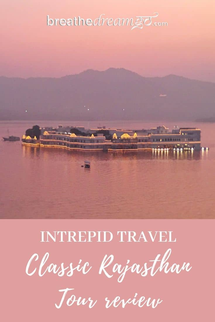 Intrepid Travel Classic Rajasthan tour review pin