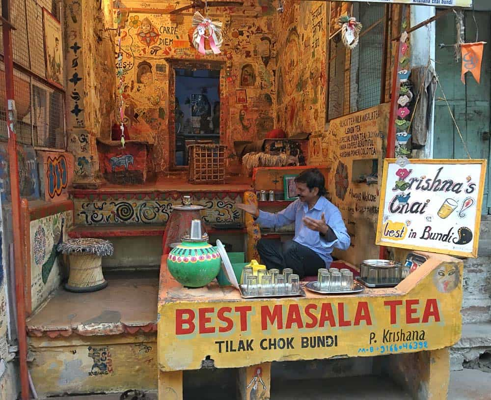 masala chai shop in Bundi