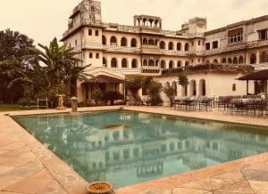 pool at Castle Bijaipur, Rajasthan