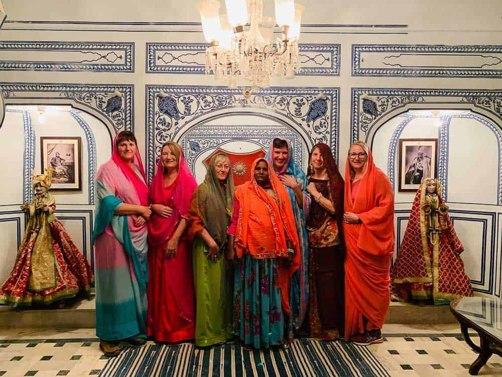 women wearing traditional clothes in Rajasthan