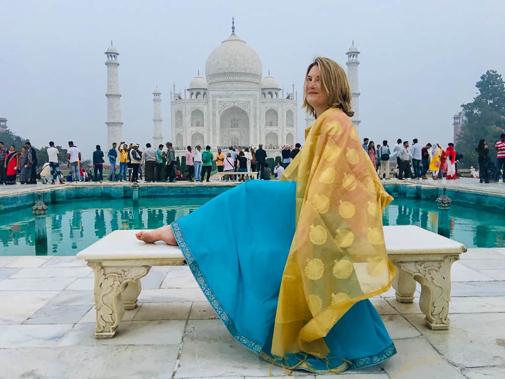 Mariellen Ward at Taj Mahal India