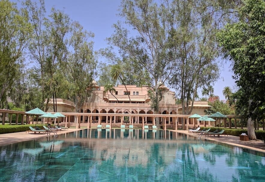 pool at Amanbagh, Rajasthan, one of the best hotels in India
