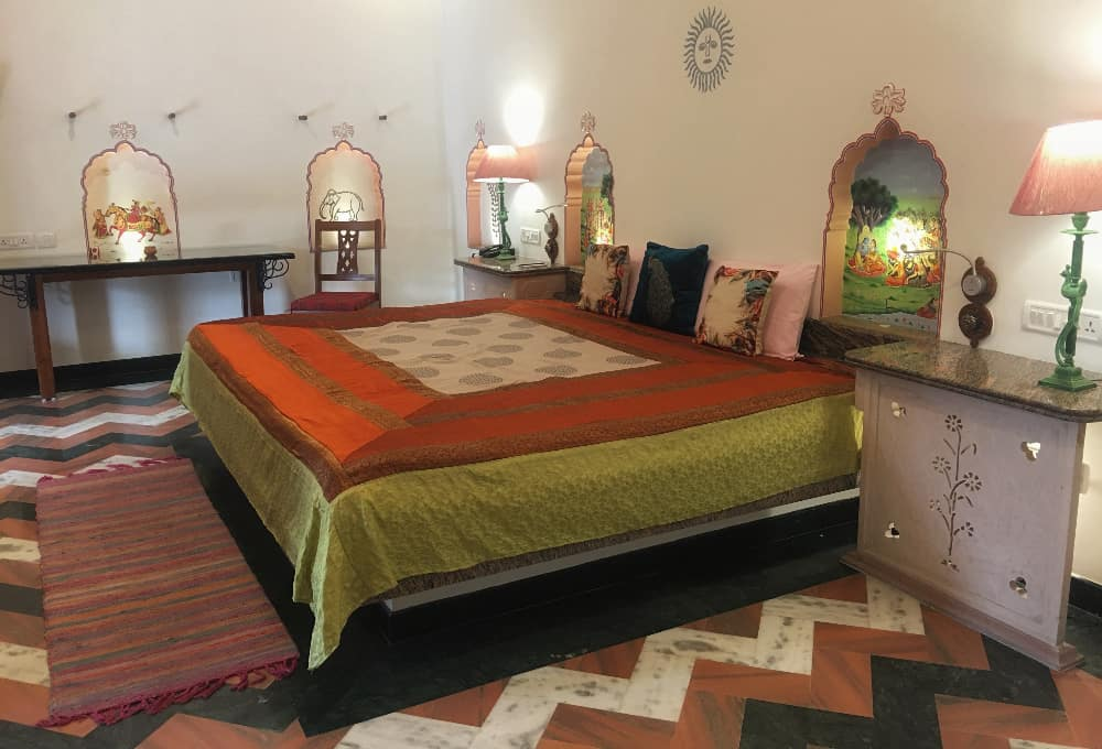 room at Dera Mandawa, one of the best hotels in Jaipur