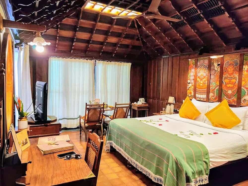 bedroom at Kumarakom Lake Resort, Kerala