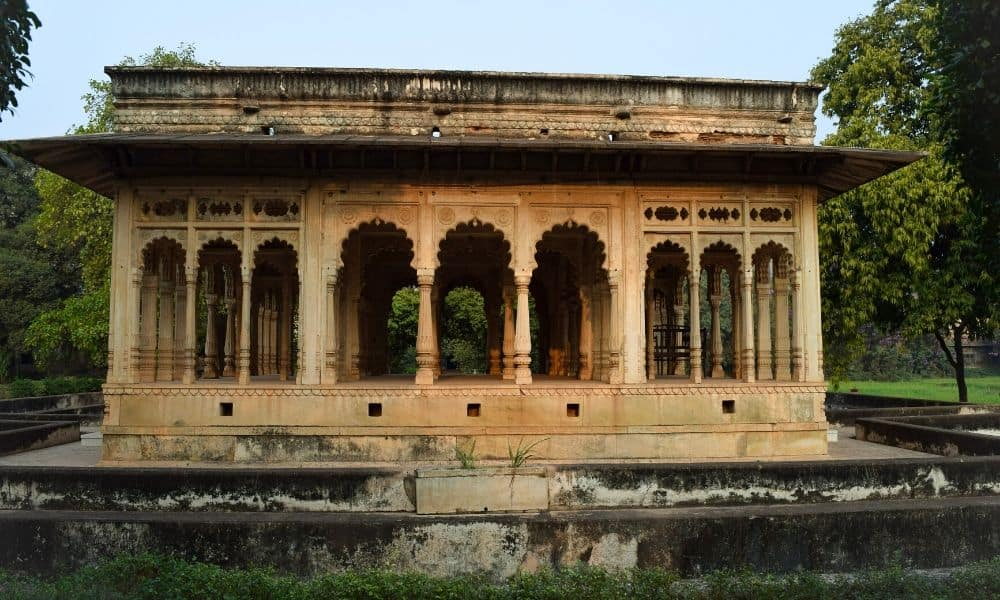 Hindu temple at Neemrana Deo Bagh, Gwalior,