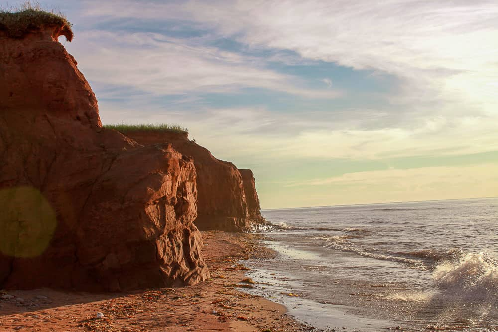 Red cliffs of PEI