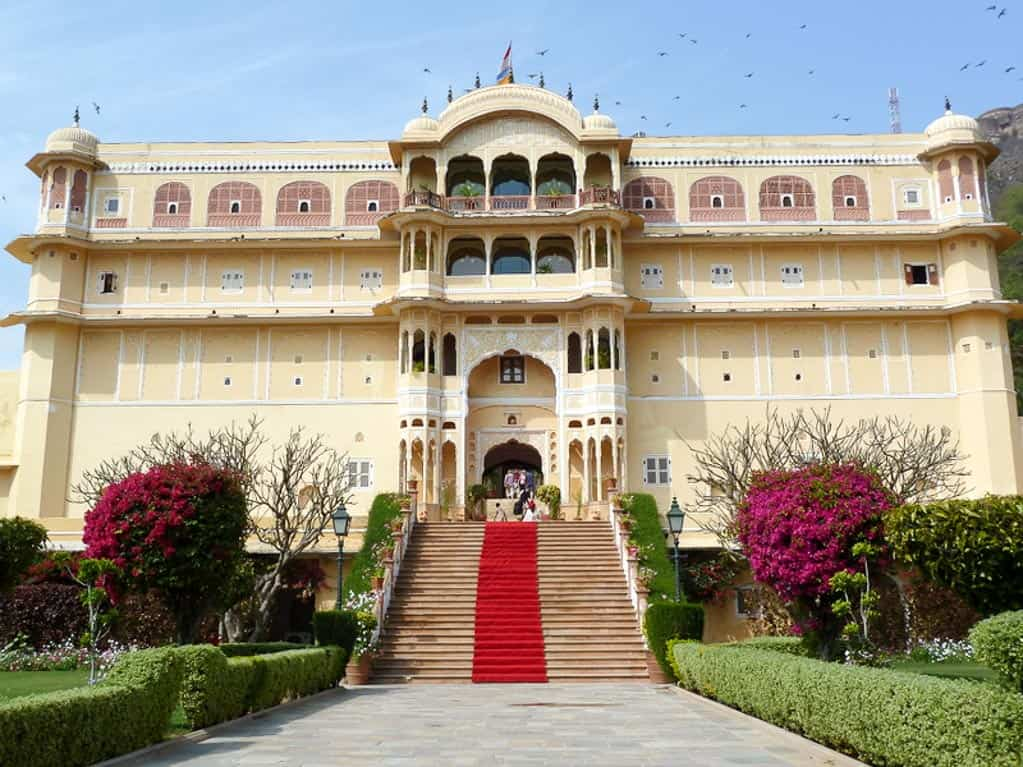 a best hotel in India, the royal exterior of Samode Palace in Jaipur, Rajasthan