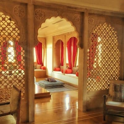 a best hotel in India, regal bedroom suite at Suryagarh, Jaisalmer