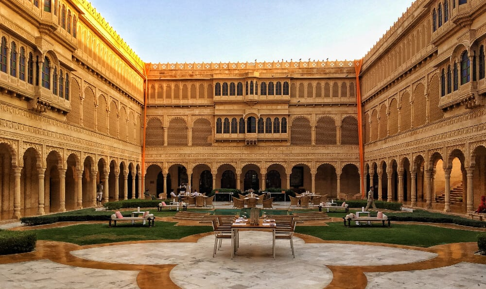 a best hotel in India, the exterior of Suryagarh, Jaislamer, Rajasthan