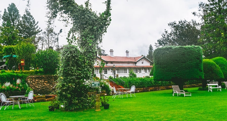 A best hotel in India, the colonial Savoy in Ooty with lawns