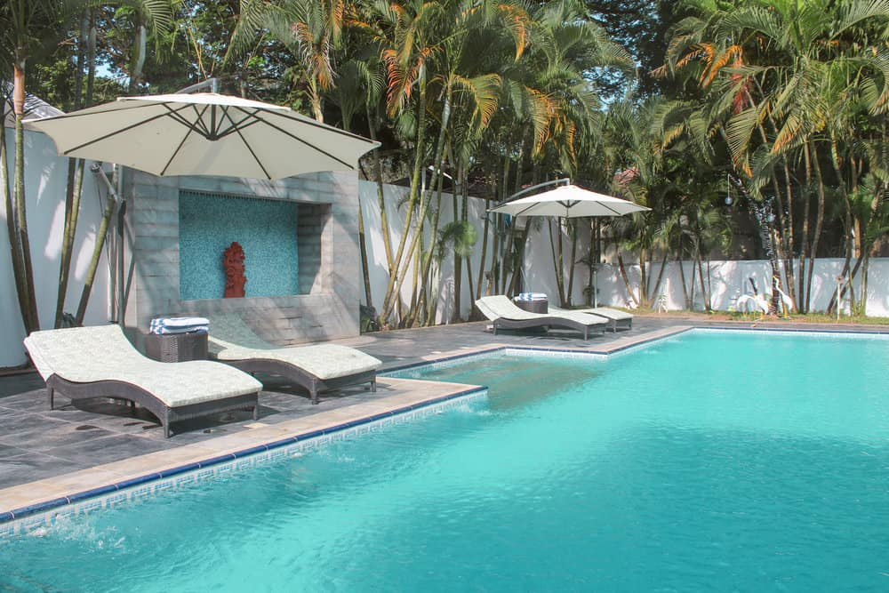 swimming pool at top hotel in Kochi, India