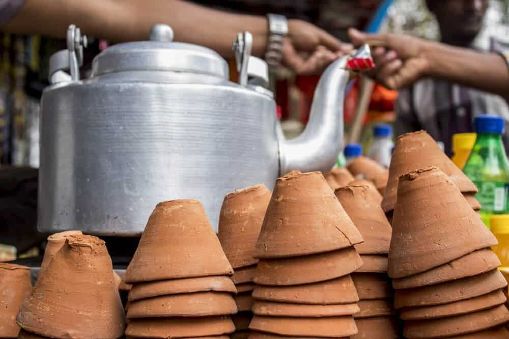 Indian teapot and chai cups