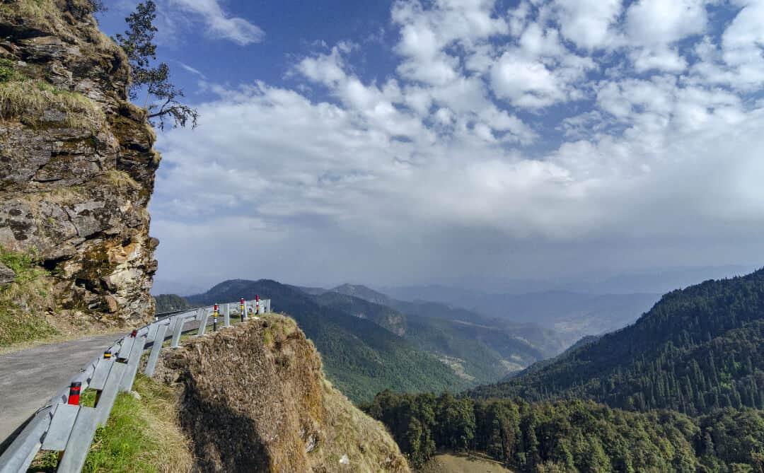 Himalayan mountain road in India