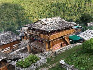 House in Himalayan village, Uttarakhand, India