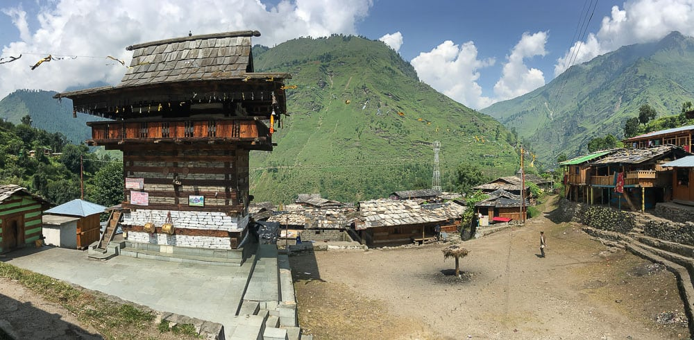 Hindu Temple in a Himalayan village, Uttarakhand, India