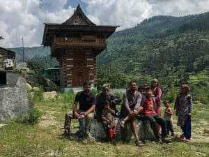 Villagers in Himalayan village, Uttarakhand, India