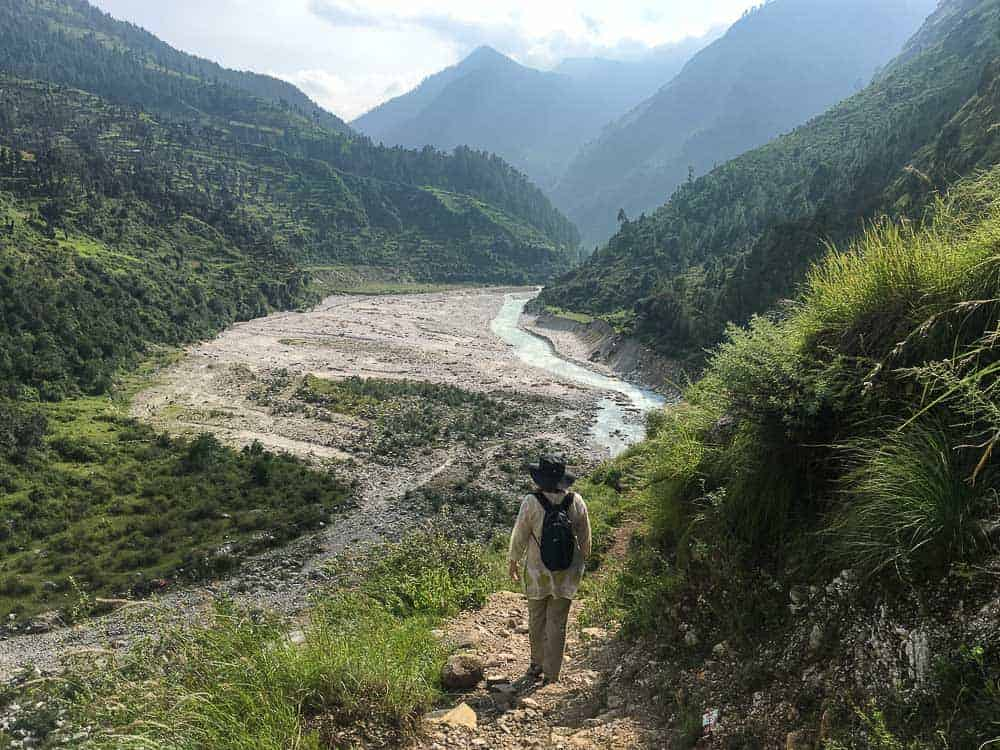 MW Mariellen Ward in Himalayan village