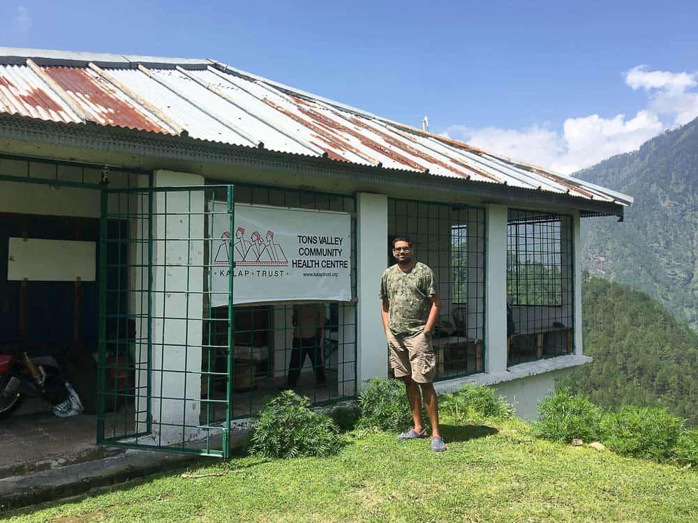 Anand Sankar at Kalap Trust, Uttarakhand