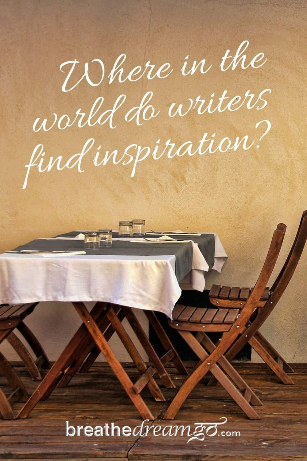 Writers find inspiration
