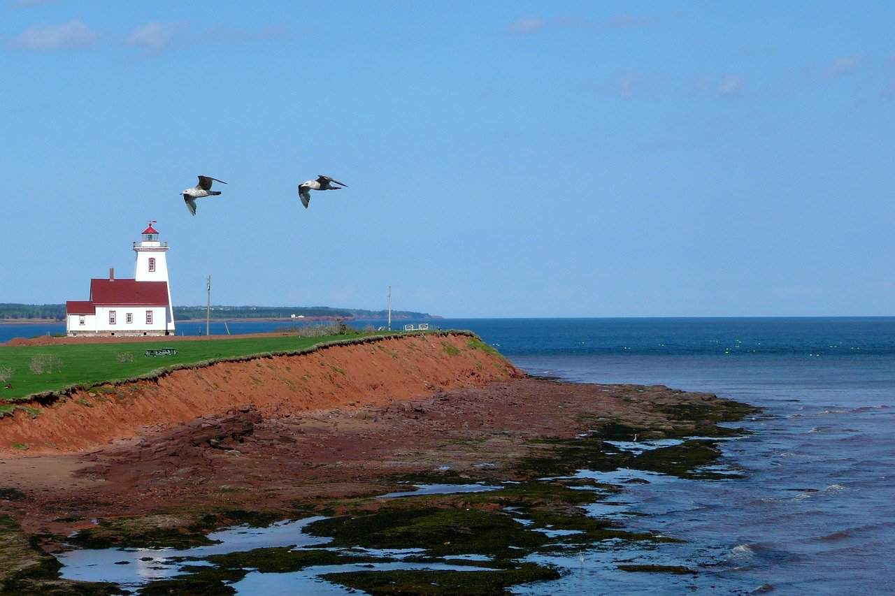 Prince Edward Island coastline. Pixabay photo, credit below.