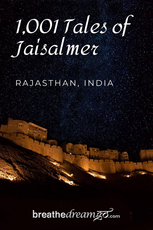 Jaisalmer Fort, Rajasthan at night sky
