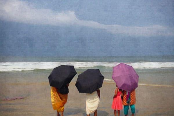 Kerala beach in monsoon