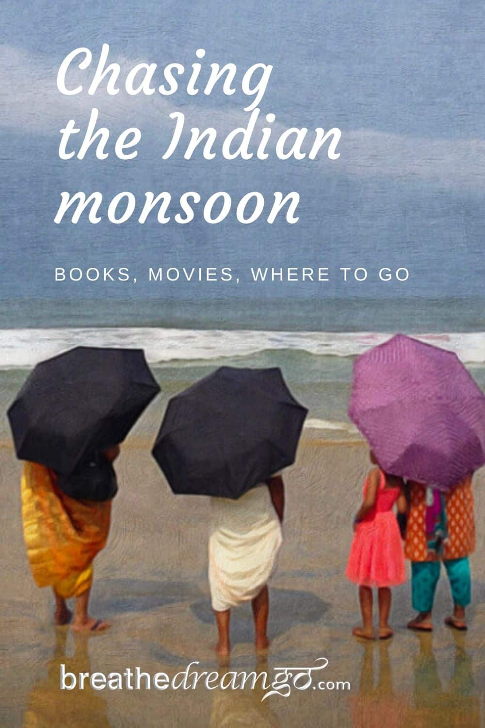 monsoon on the beach in India