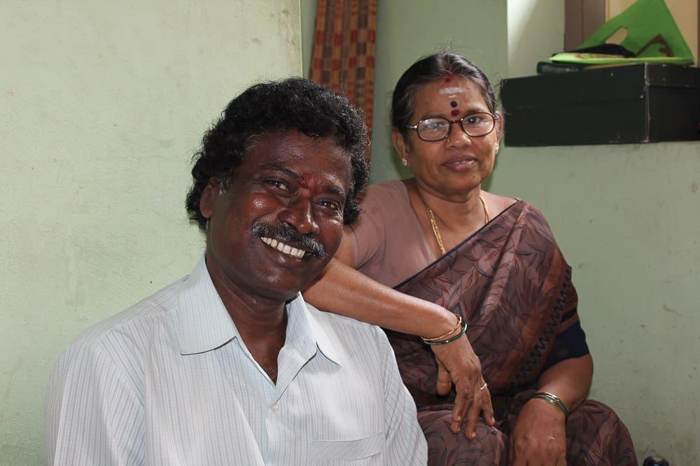 journalist and wife in Tiruvannamalai.