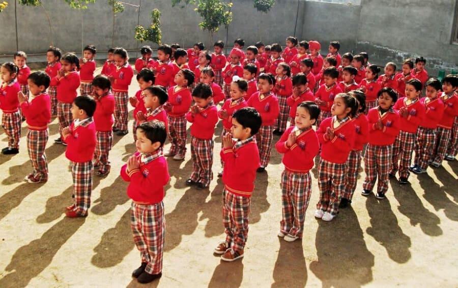 School prayer with children