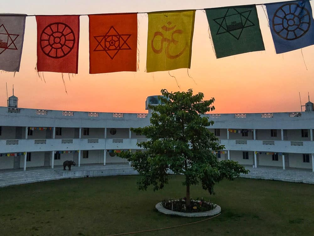 Aurovalley Ashram World Temple flags